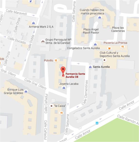 Localiza Farmacia Santa Aurelia