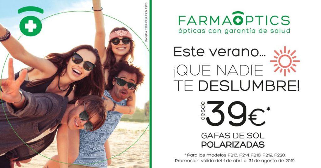 Campaña gafas de sol verano 2019 en Farmacia Optica Santa Aurelia