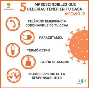 5 cosas que debes tener en casa ante el coronavirus